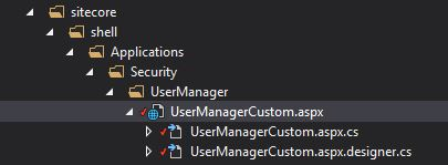 UserManagerCustomFolder